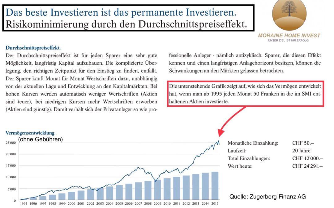 Das beste Investieren ist das permanente Investieren  Kopieren